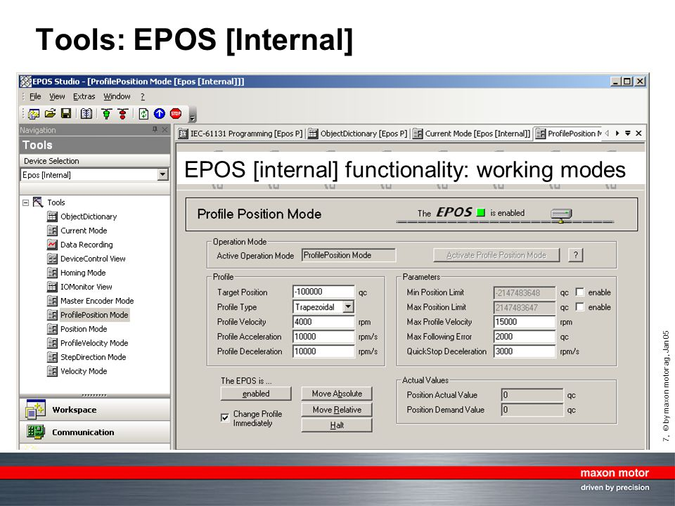 Tools: EPOS [Internal]